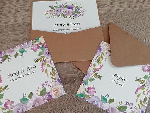 Floral Wedding Invitation - INV06082104