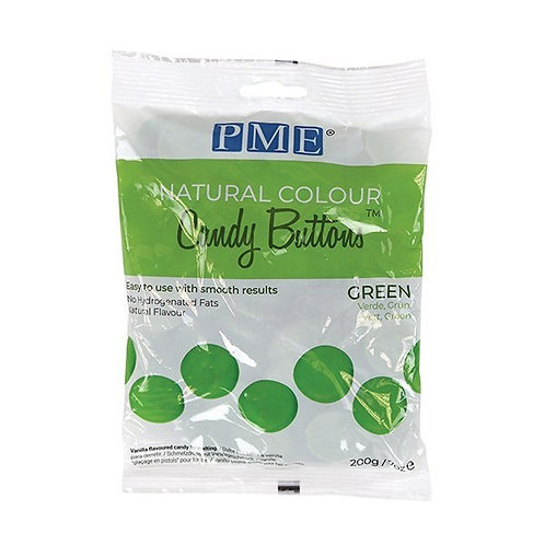 PME Natural Colour Candy Buttons - Green - 200g - BB 25.3.22