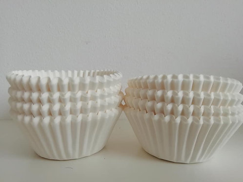 White Cup Cake Cases