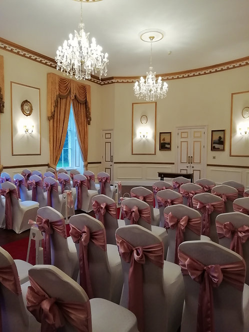 70 Chair Covers and Sash Hire - Includes Deposit