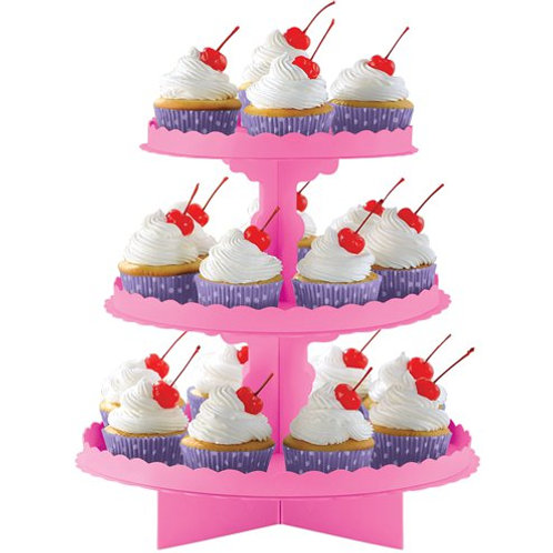Pink Cupcake Stand for Afternoon Tea, Cupcakes, Treats
