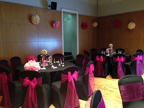 30 Chair Covers & Sash Hire - Including Deposit