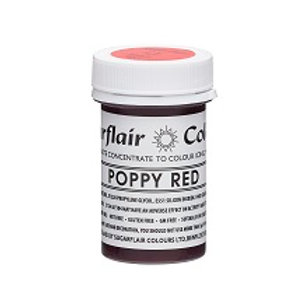 Poppy Red - Sugarflair Tartranil Paste 25g