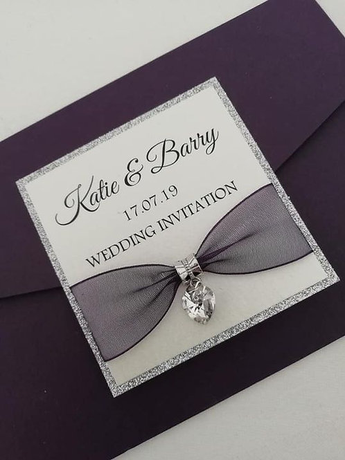Kate Wedding Invitation - Set of 5