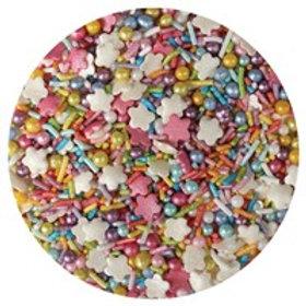 Rainbow Sprinkle Mix - 100g - Purple Cupcakes