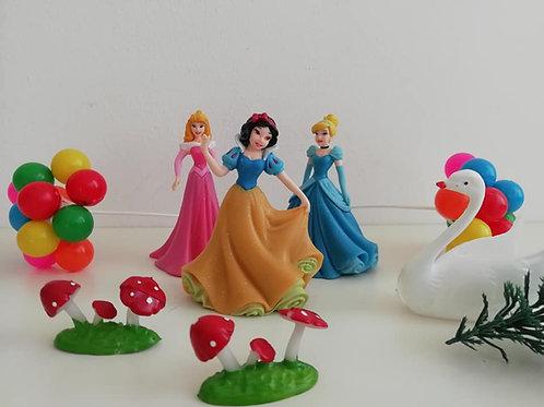 Princess Cake Decoration Set - Balloons, Swan, Toadstools, Tree