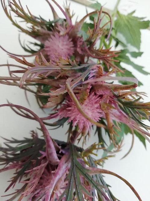 67cm WILD ERYNGIUM (SEA HOLLY) SPRAY- Mauve /Purple