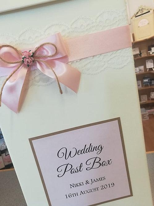 Lace and Twine Wedding Post Box