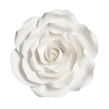 Gumpaste White Rose - 101mm