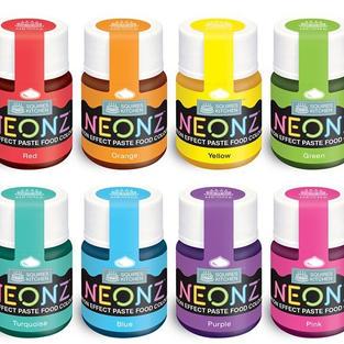 Squires Kitchen Neonz Paste Colours