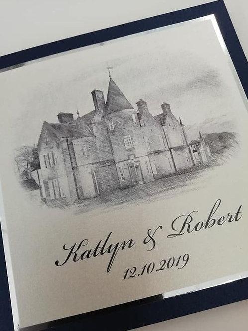 Katlyn Wedding Invitation - Set of 5