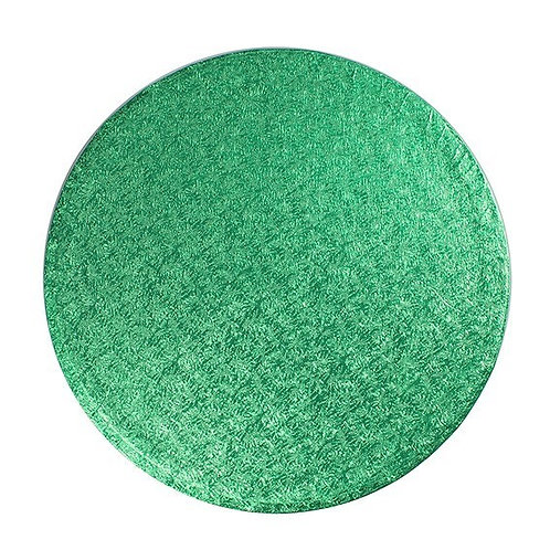 """Bulk Pack - Round Green Cake Drum Board - 10"""" - Pack of 5 Drums"""