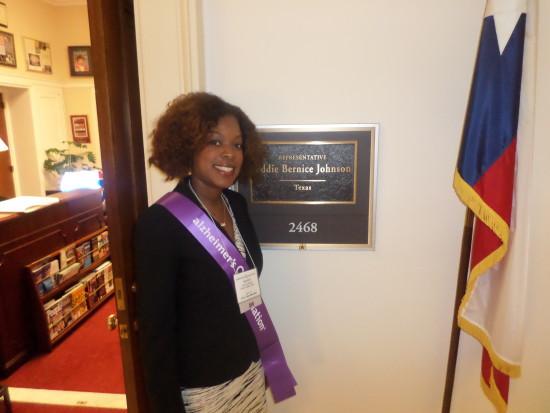 Outside Congresswoman Johnson's Office