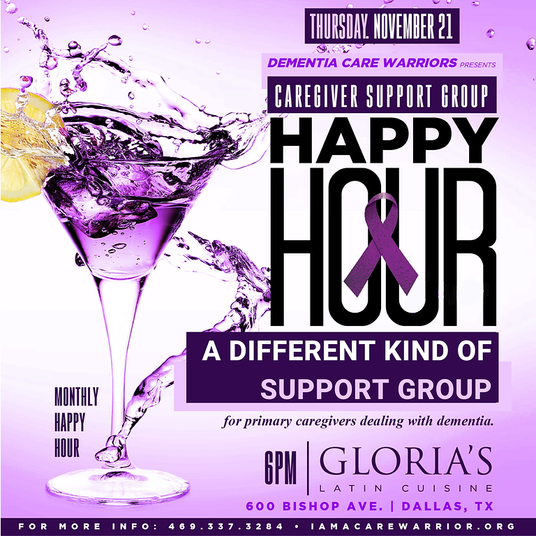 Caregiver Support Group Happy Hour