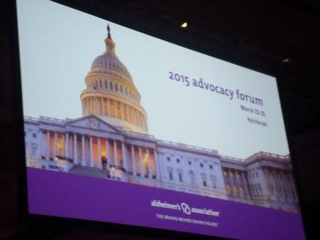 2015 Alzheimer's Association Advocacy Forum Recap Part 1