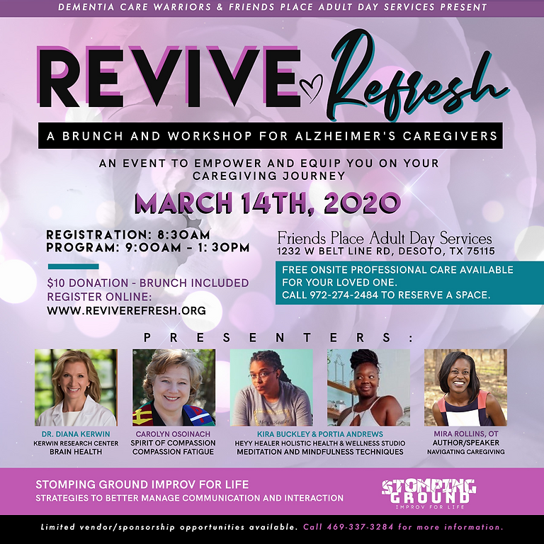 REVIVE | REFRESH: A Brunch & Workshop for Alzheimer's Caregivers