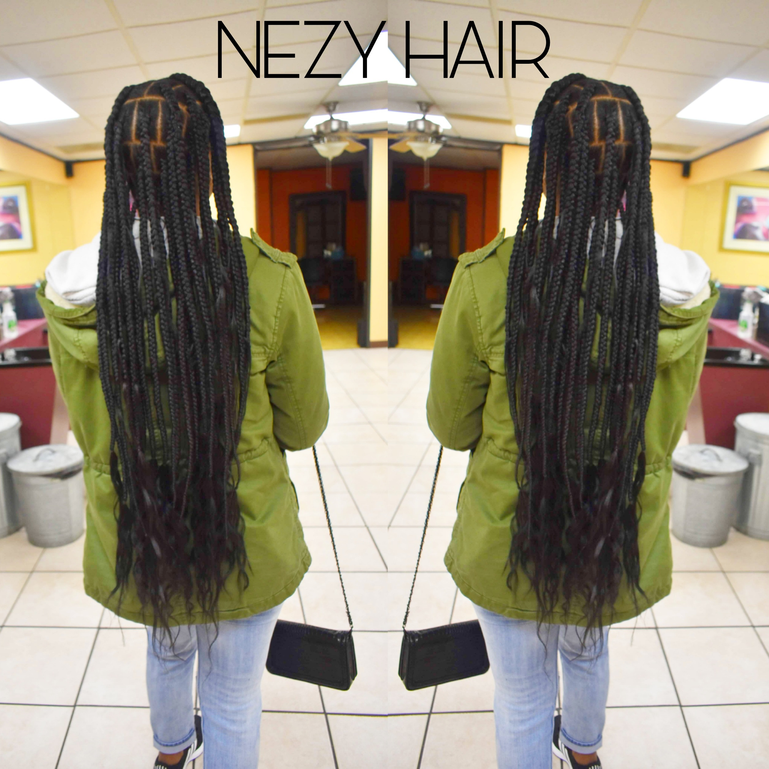 Large Extended Wavy  Knotless Braids