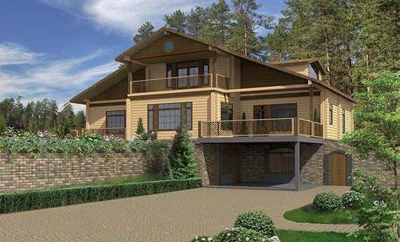 Дом из клеёного бруса ЗС-342