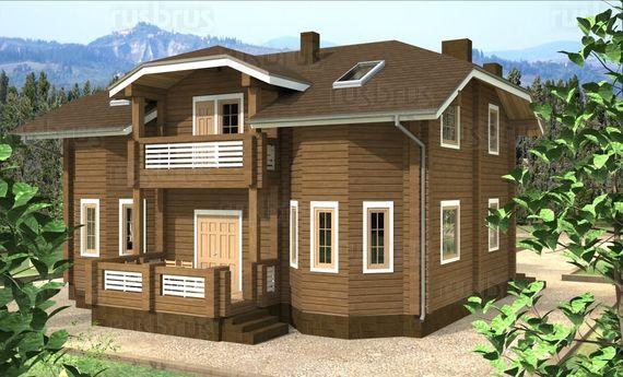 Дом из клеёного бруса К-187