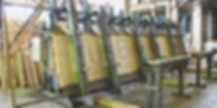 Вертикальная вайма для производства деревянных клееных балок