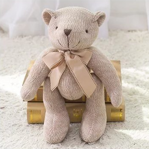 Urso Tricô Bege