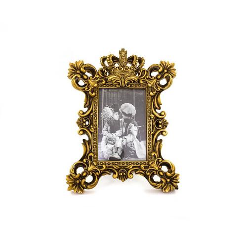 Porta Retrato Coroa Dourado