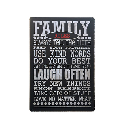 Placa Family Rules