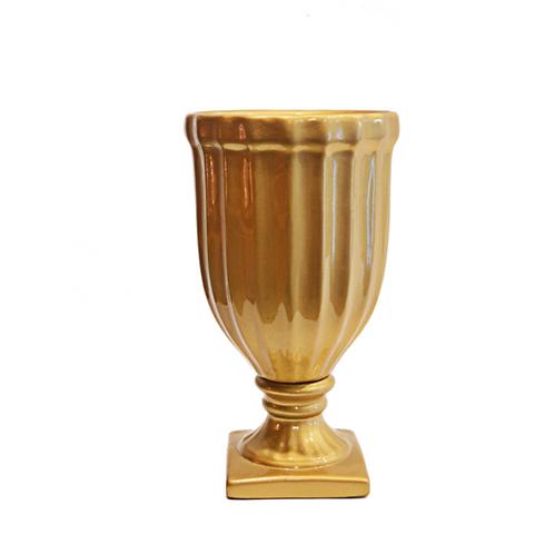 Vaso Canelado Dourado
