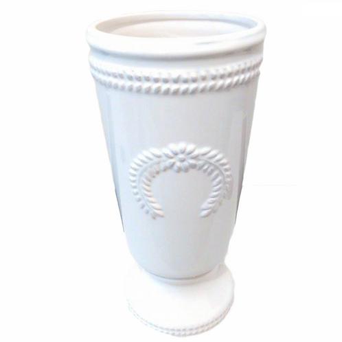 Vaso Romano Branco Grande