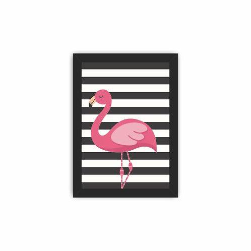 Quadro Flamingo Listrado