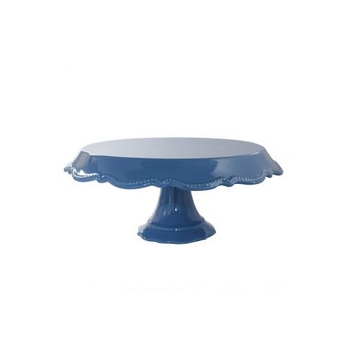 Prato Porcelana Rendado Azul Escuro M