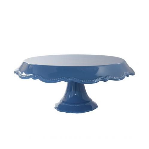 Prato Porcelana Rendado Azul Escuro G