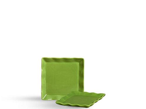 Bandeja Babado Quadrada Verde