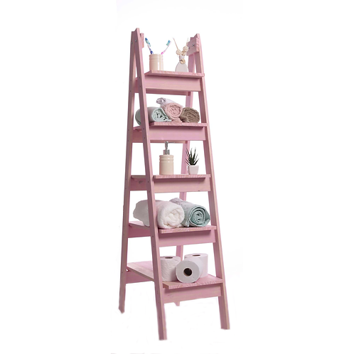Estante Escada Rosa