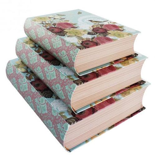 Trio de Livros Flowers