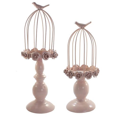 Kit Decorativo Pássaro Rosa