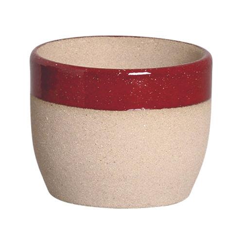 Cachepô Bowl Cimento Borda Marsala PP