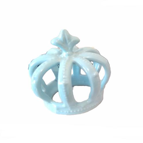 Coroa Porcelana Azul Média