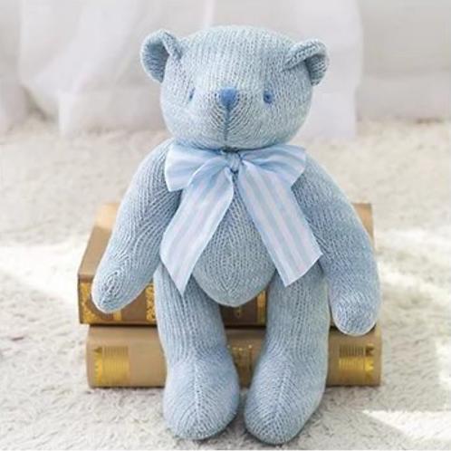 Urso Tricô Azul