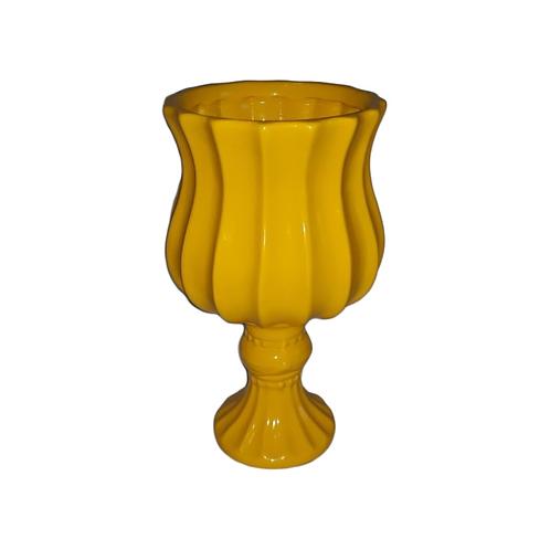 Vaso Royal Canelado Amarelo