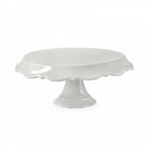 Prato Porcelana Rendado Branco G