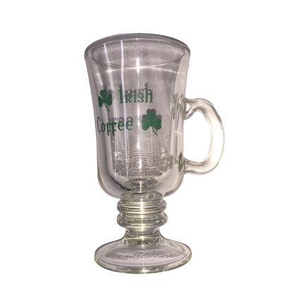 Irish Coffee glas med skrift