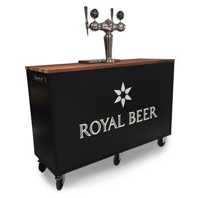 Fadølsbar med 2 haner (Komplet) Kun Royal Produkter