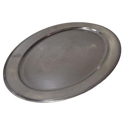 Rustfri stålfade Oval L:63 cm.