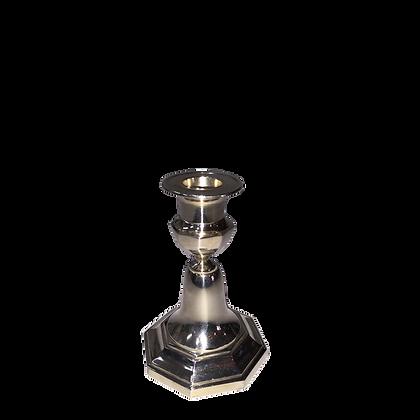 Sølv Lysestager. Enkelt H:12 cm.