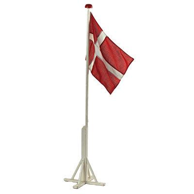 Flagstang træ gulv med flag