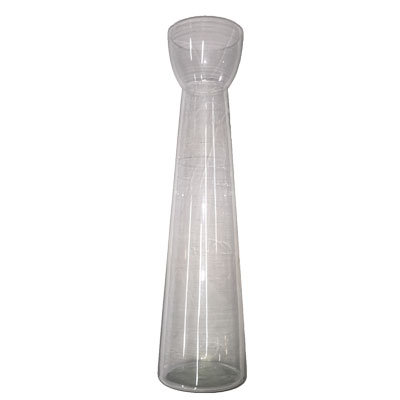 Glasvase Høj H:40 cm.