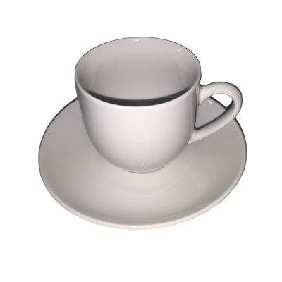 Hvide kaffekopper m.underkop