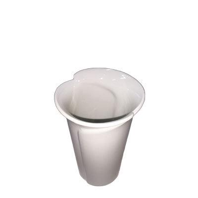 Vaser hvide mellem H:16 cm.