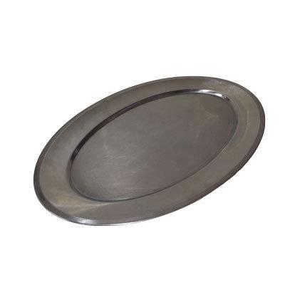 Rustfri stålfade Oval L:55 cm.